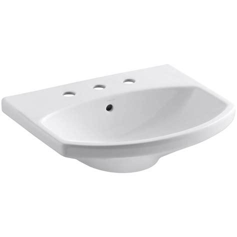 kohler cimarron pedestal sink kohler cimarron 3 5 8 in vitreous china pedestal sink
