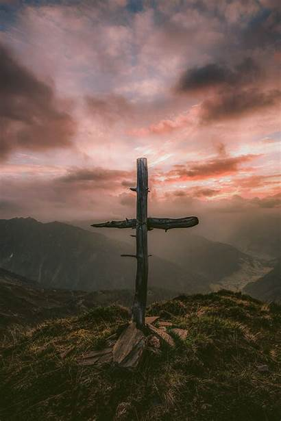 Cross Wallpapers Unsplash Mountain Wooden Grey Religion