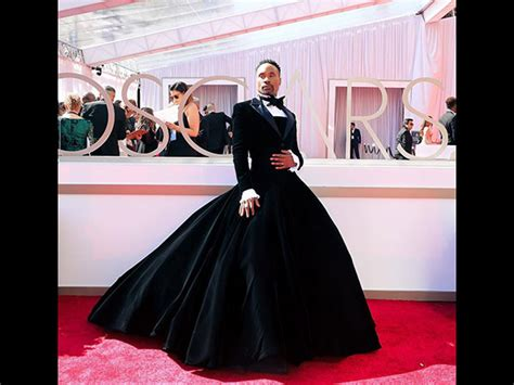Billy Porter Victorian Tuxedo Gown Oscars
