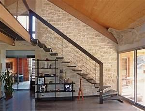 Escalier Quart Tournant Bas : escalier suspendu ~ Dailycaller-alerts.com Idées de Décoration