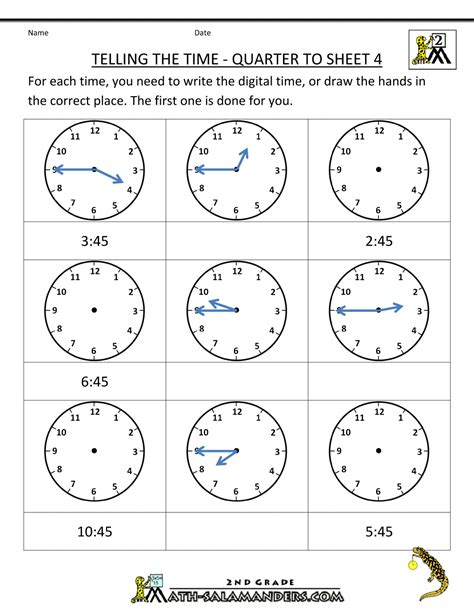 time worksheets for primary 1 time worksheet telling the time quarter to 4 primary