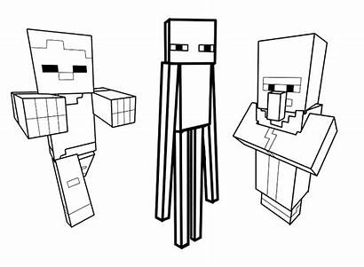 Minecraft Coloring Drawing Characters Could Inspired Videogame