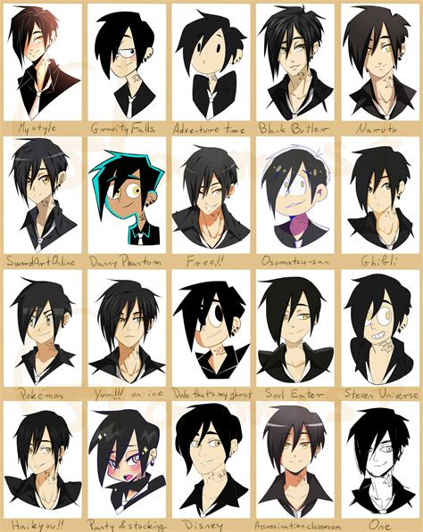 anime art styles names bob 20 styles challenge by glamist on deviantart