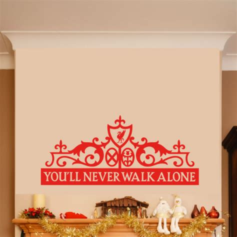 pink and grey nursery liverpool you ll never walk alone wall sticker