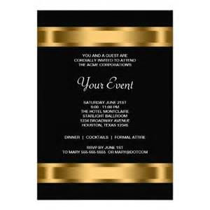 wedding party program template black gold black corporate party invitation templates