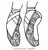 Coloring Ballet Pages Shoes Dance Ballerina Pointe Adult Tap Nike Slippers Irish Nutcracker Printable Drawing Jazz Drawings Sheets Colouring Hop sketch template
