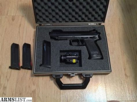 hk usp 45 laser light armslist for sale hk usp elite 45 a c p 4 magazines