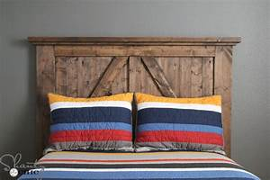 diy barn door headboard shanty 2 chic With barn door style headboard