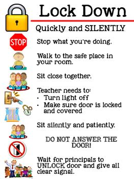 Classroom Safety Posters with Pictures by Lily's Learnings ...