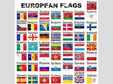 Set of grunge European flags, complete collection — Stock