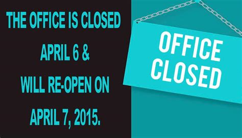 office will be closed sign template office closed sign driverlayer search engine