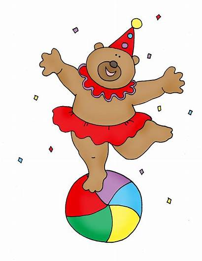 Circus Bear Dancing Clipart Dolls Stamps Dearie