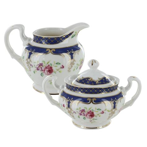 Great savings & free delivery / collection on many items. Navy Rose Porcelain - Sugar and Creamer Set | Sugar bowls and creamers, Cream and sugar, Creamer
