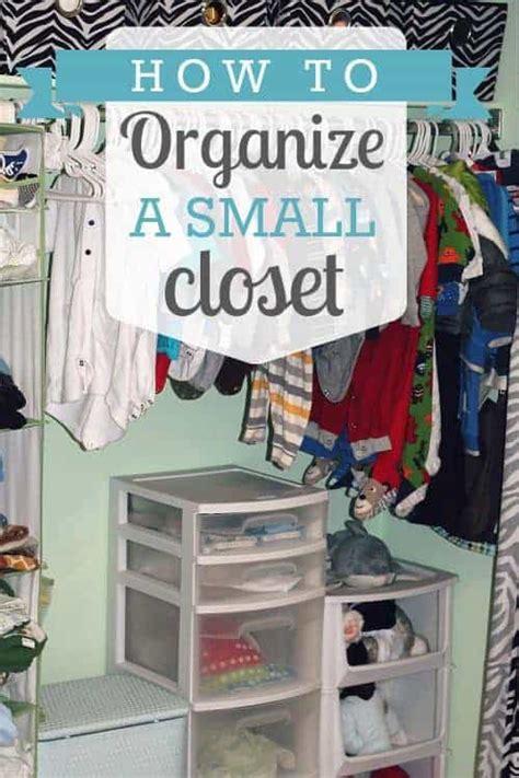 How To Organize A Small Closet  Daily Mom