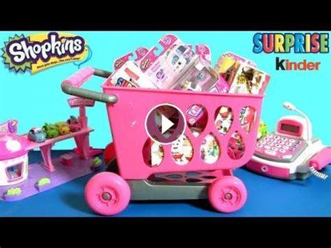 huge shopping cart full  shopkins cutie cars toys