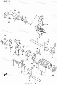 Suzuki Motorcycle 1997 Oem Parts Diagram For Gear Shifting
