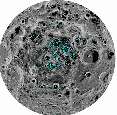Pole Moon South Ice Nasa Lunar Space