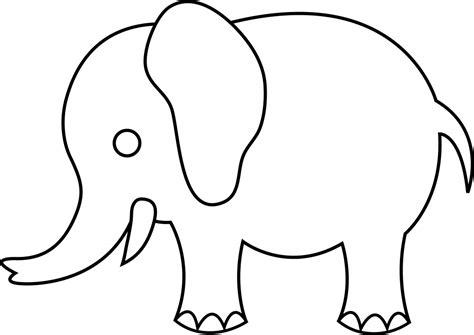 elephant cut out template elephant outline clipartion