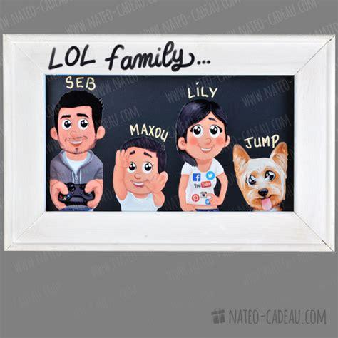 cadre dco portrait de famille tableau humoristique personnalis cadre famille personnalis