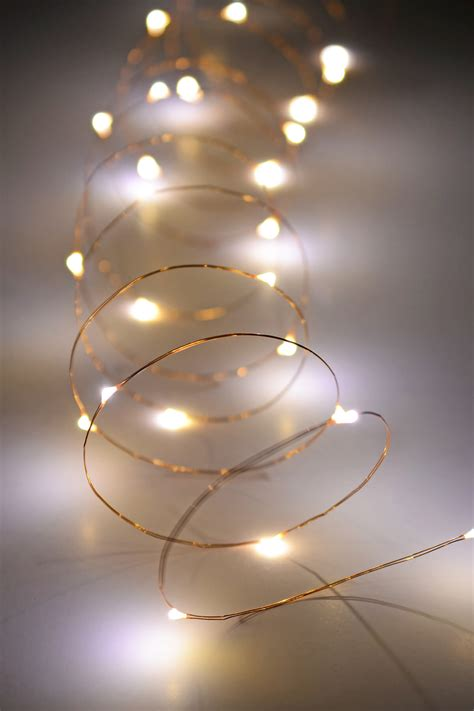 copper wire fairy lights  ft outdoor battery operated warm white