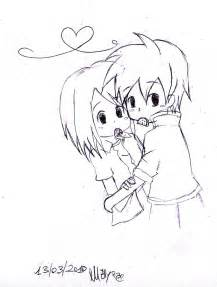 Cute Chibi Anime Love Drawings