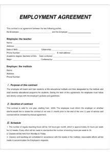 Casual Labour Contract Template