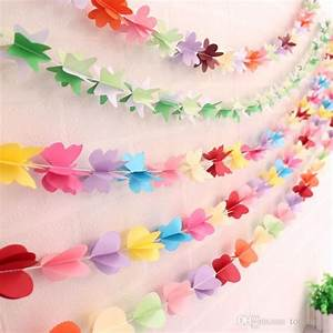 2017 wedding bridal diy paper garland flower butterfly With paper flower garland template