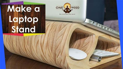 wooden laptop stand woodworking project