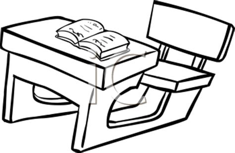 student desk clipart black and white royalty free school desk clipart