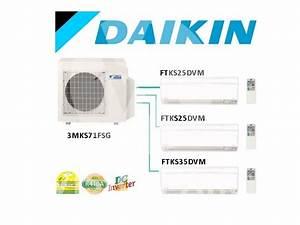 Daikin System 3 Inverter  3mks71esg    2 X Ftks25dvm  9000