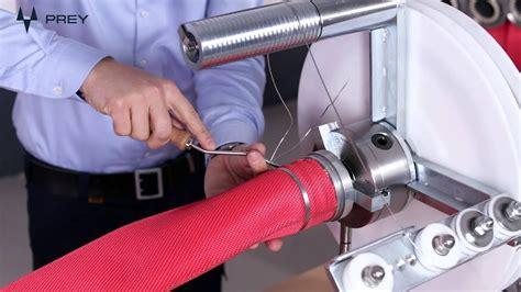 prey sem fire hose coupling binding machine youtube