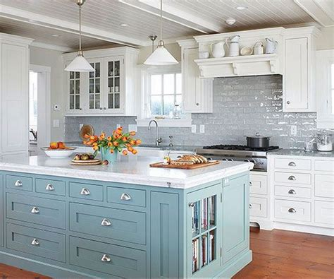 white kitchen with blue backsplash 35 beautiful kitchen backsplash ideas hative 1832