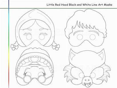 Coloring Wolf Hood Riding Printable Gcssi Tale