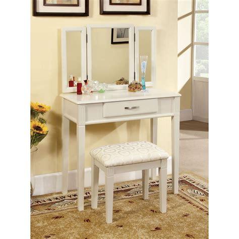 furniture  america thompson bedroom vanity set white