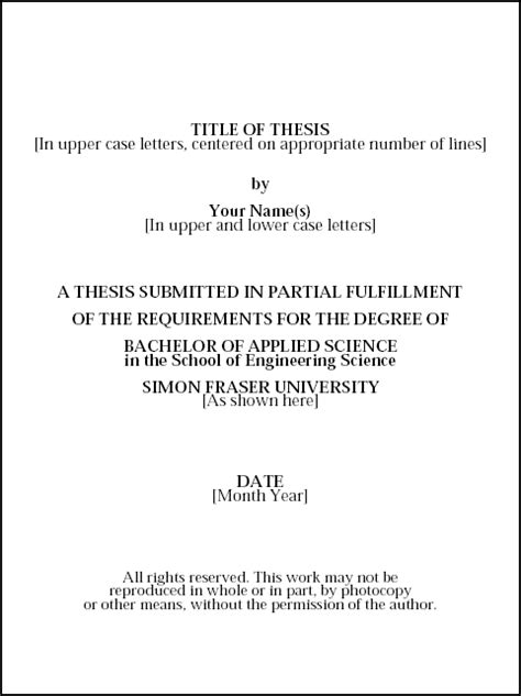 sample title thesis cover page example