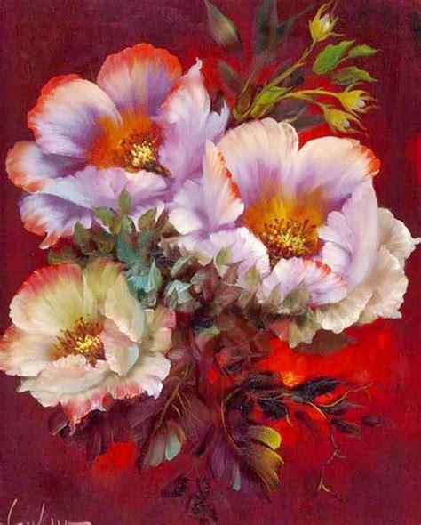cuadros modernos pinturas al 211 leo de flores gary jenkins nueva york usa