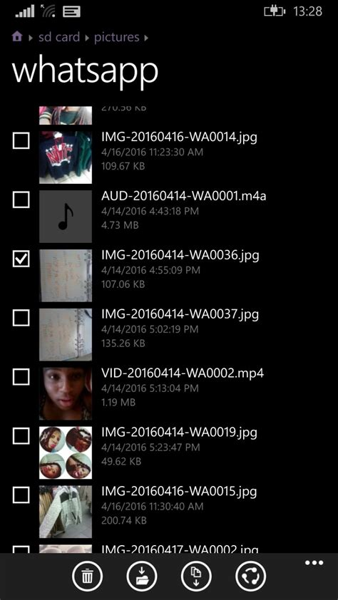 how can we delete the pics sent via whatsapp in nokia