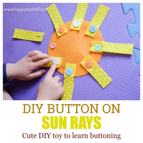 DIY button on sun rays toy for toddlers and preschoolers ...