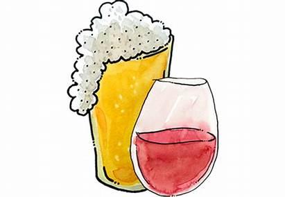 Beer Wine Clipart Glass Liquor Dinner Wines