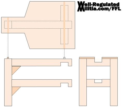 shooting bench plans portable  woodworking