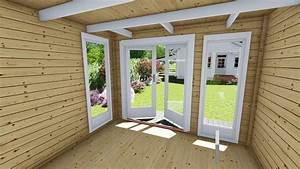 Gartenhaus Anbau Hauswand : gartenhaus flachdach aus holz blockhaus mit anbau 28 mm kiel 28226 model youtube ~ Orissabook.com Haus und Dekorationen