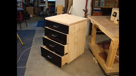 60 Simple dado & plywood rolling shop cabinet 1   YouTube