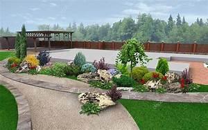 Jardin Paysager Exemple : am nagement paysager exemple de jardin d coration rendu 3d photographie threedicube 83217770 ~ Melissatoandfro.com Idées de Décoration