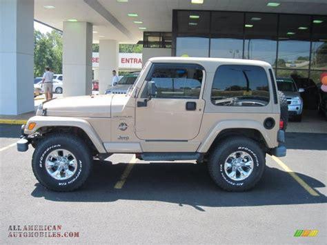 desert jeep wrangler 1999 jeep wrangler sahara 4x4 in desert sand pearlcoat