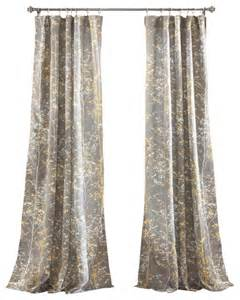 forest window panel gray and yellow set transitional curtains by lush decor
