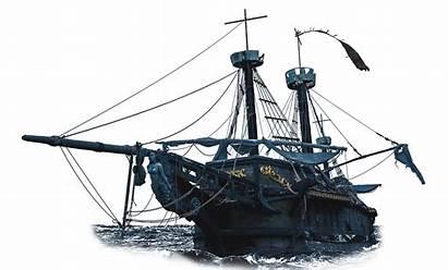 Pirate Ship Flying Dutchman Transparent Sunken Abondoned