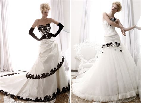 Black & White Grace Kelly Inspired Bridal Gowns