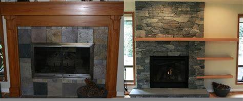 stone fireplace remodel     shepherd