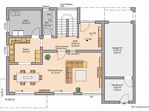 Haus Raumaufteilung Beispiele : grundriss einfamilienhaus mit integrierter garage im ~ Lizthompson.info Haus und Dekorationen