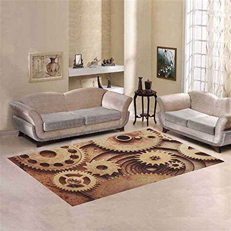 steampunk area rugs  home  office